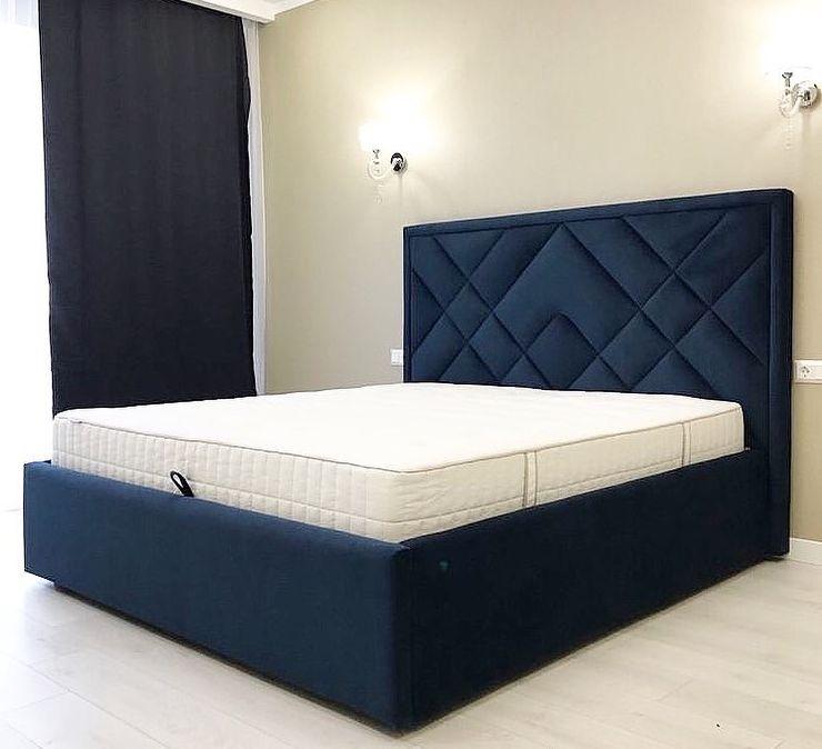 Кровать с мягким изголовьем фото 329