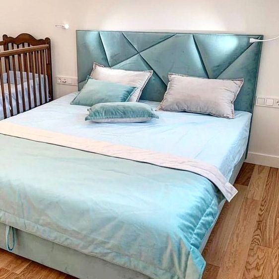 Кровать с мягким изголовьем фото 331