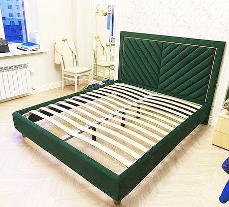 Кровать с мягким изголовьем фото 332
