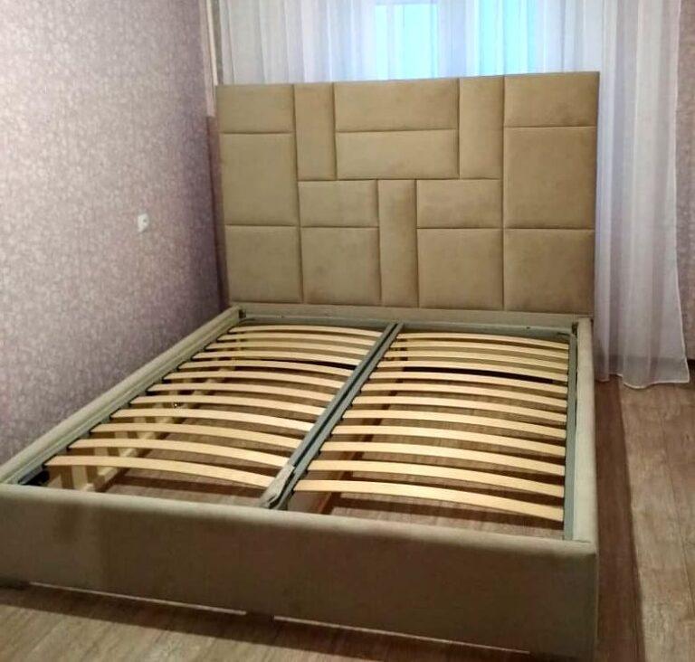Кровать с мягким изголовьем фото 336