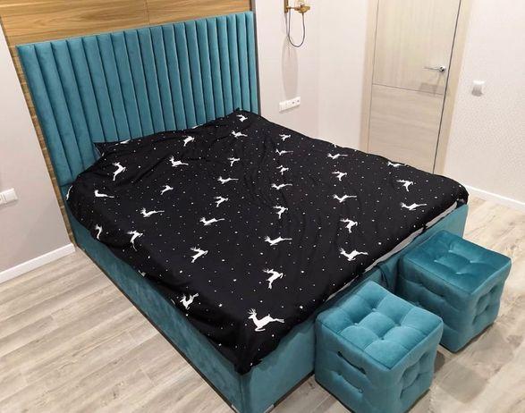 Кровать с мягким изголовьем фото 473