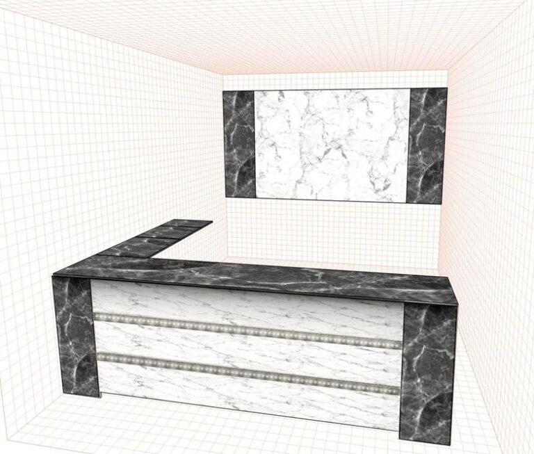 Стеновая панель под мрамор фото 562