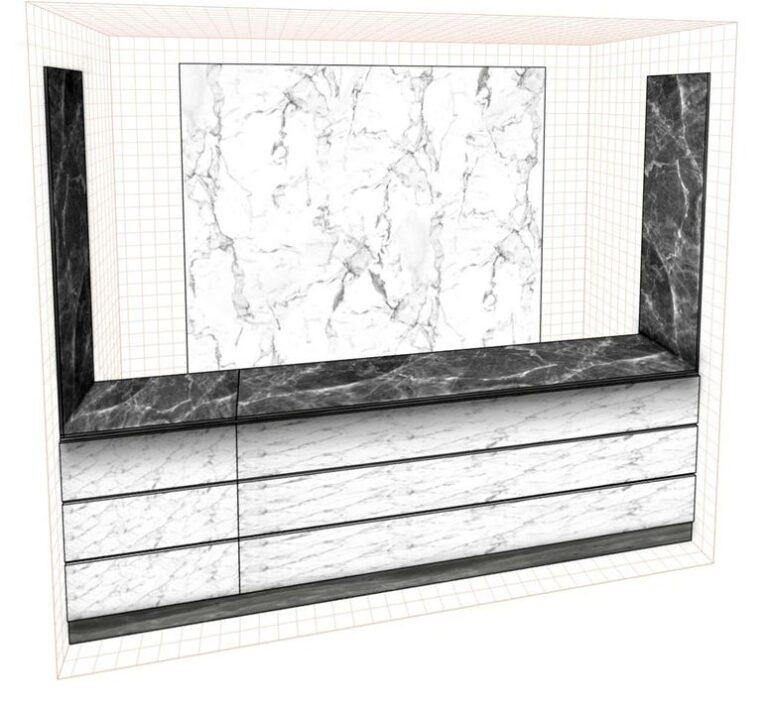 Стеновая панель под мрамор фото 568