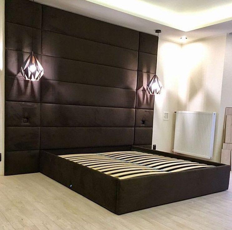 Мягкие панели для спальни фото 91