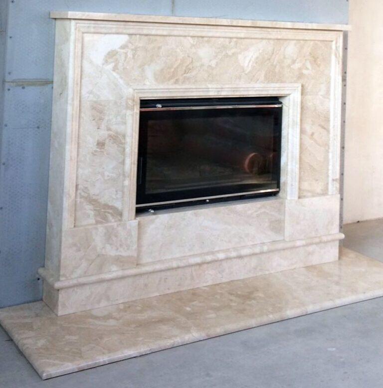 Камин мраморный проект 109