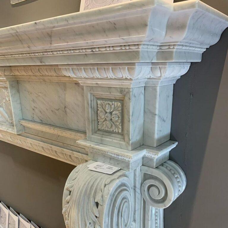 Камин мраморный проект 116