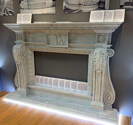 Камин мраморный проект 117