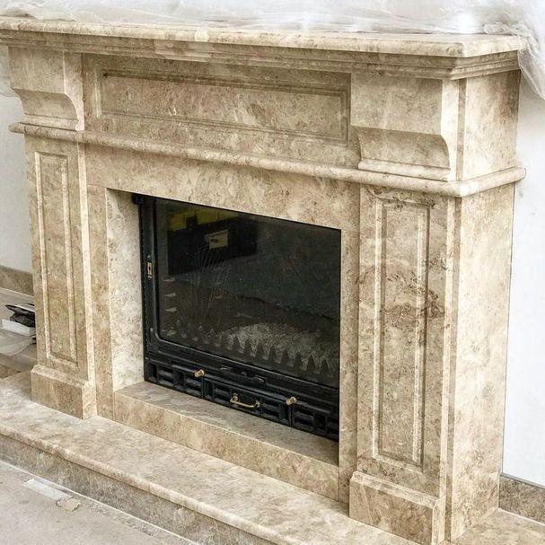 Камин мраморный проект 123