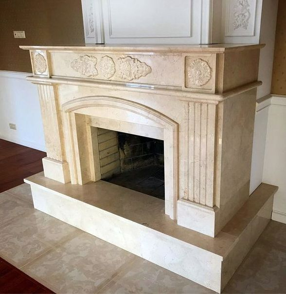 Камин мраморный проект 136