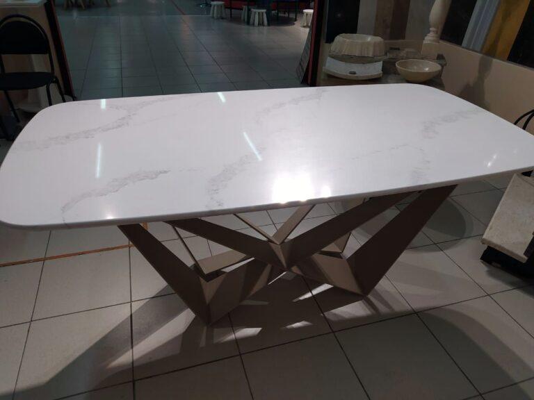 Мраморный обеденный стол фото-201