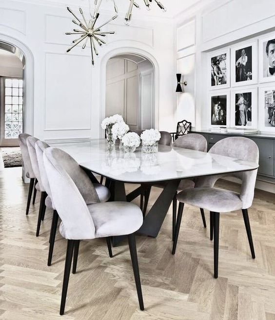 Стол обеденный мрамор фото ОСтМр 301