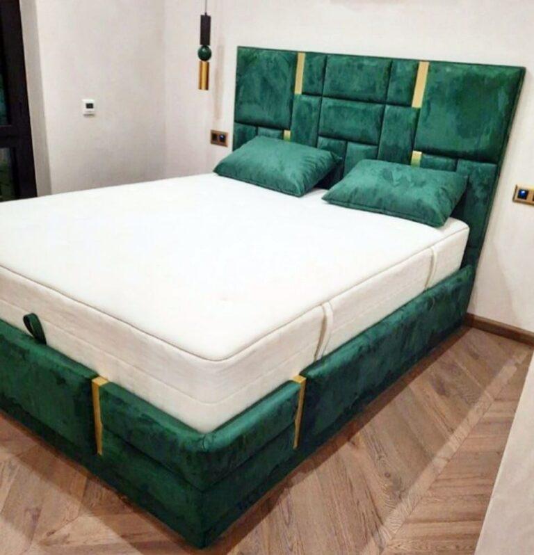 Кровать с мягким изголовьем фото 361