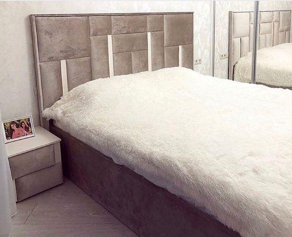 Кровать с мягким изголовьем фото 632