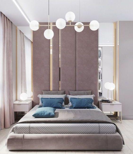 Мягкая панель в спальню фото 352