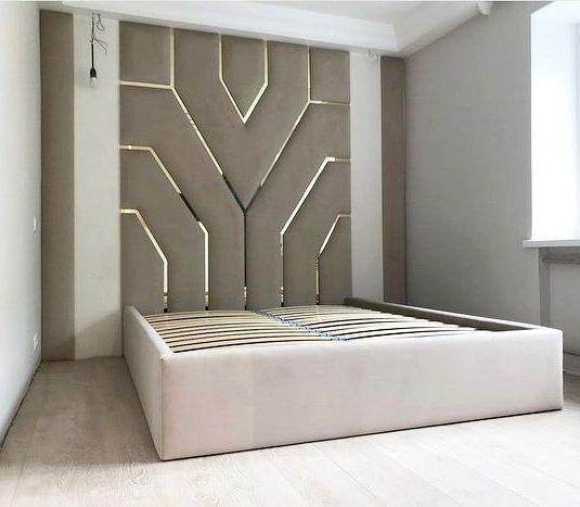 Мягкая панель в спальню фото 422