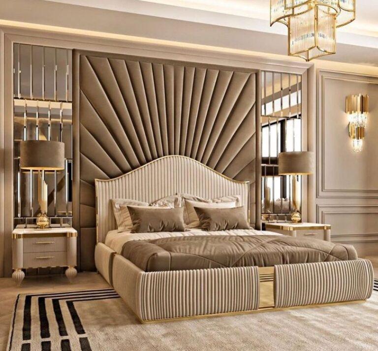 Мягкая панель в спальню фото 382