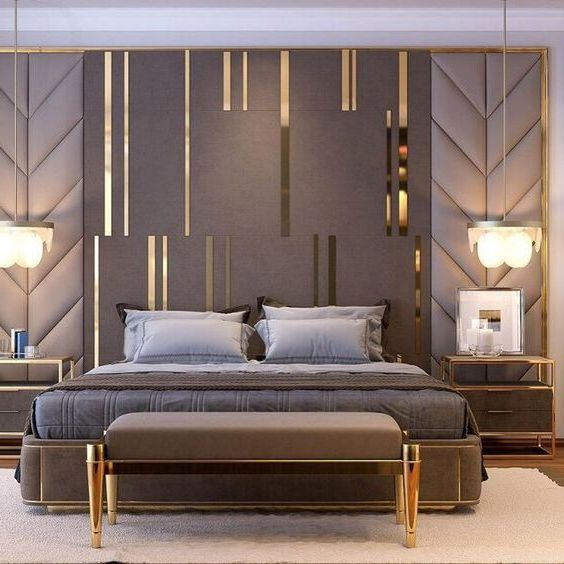 Мягкая панель в спальню фото 386
