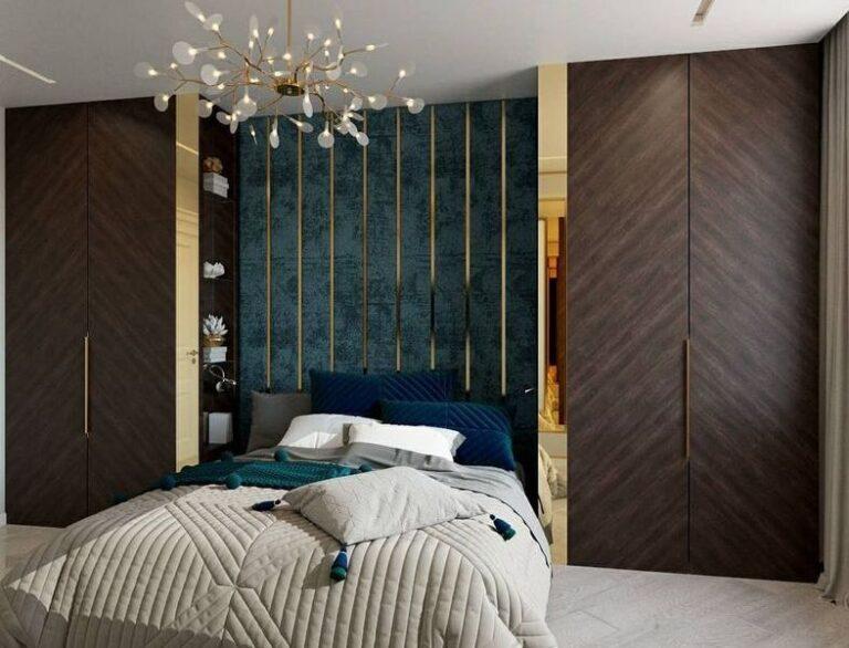 Мягкая панель в спальню фото 387