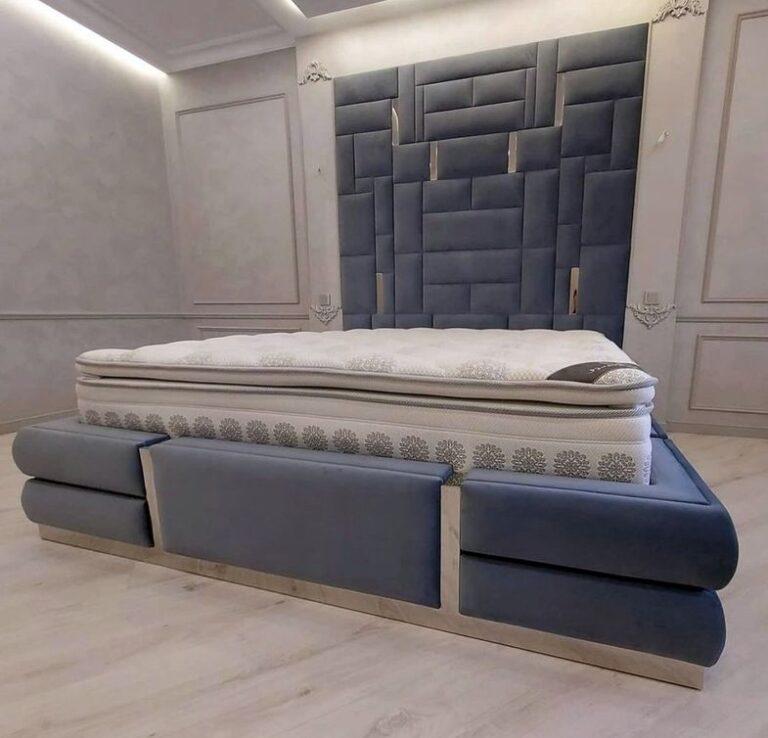 Мягкая панель в спальню фото 392