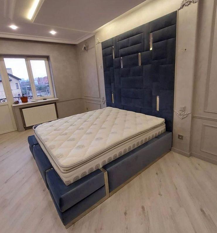 Мягкая панель в спальню фото 394