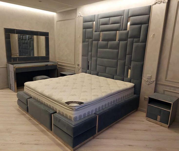 Мягкая панель в спальню фото 397