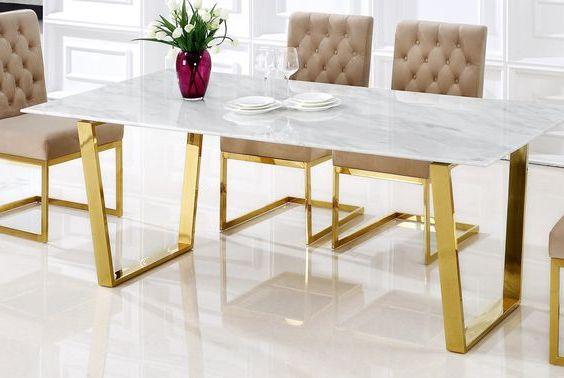 Стол обеденный мрамор фото ОСтМр 315