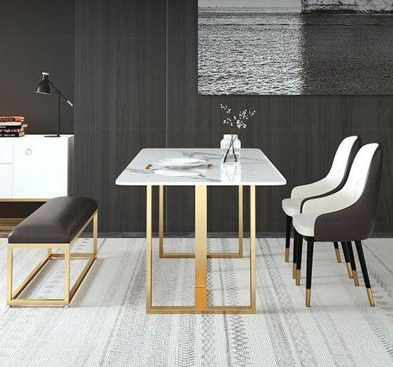 Стол обеденный мрамор фото ОСтМр 318