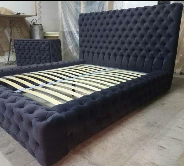 Кровать с мягким изголовьем фото 162