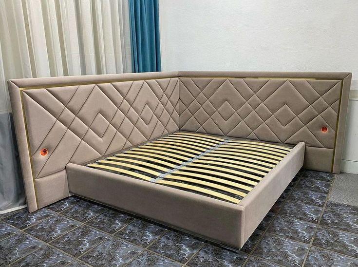 Кровать с мягким изголовьем двуспальная фото 551