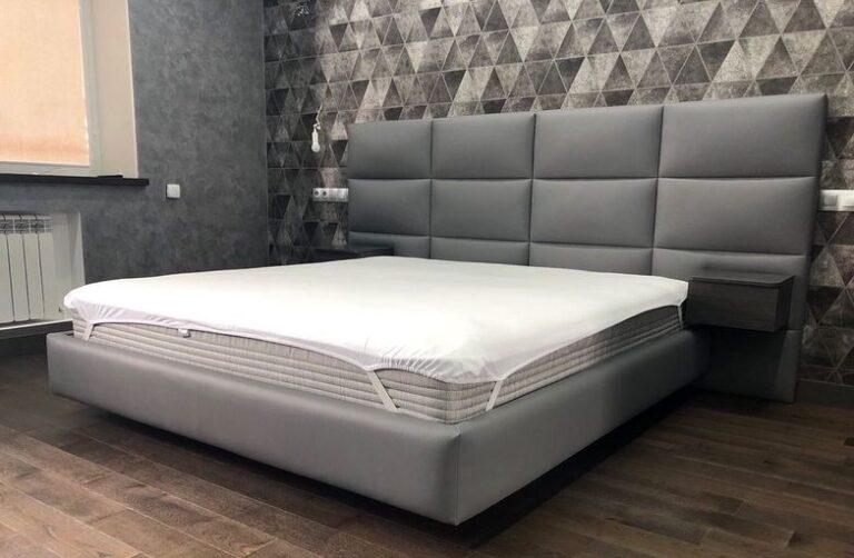 Кровать с мягким изголовьем фото 721