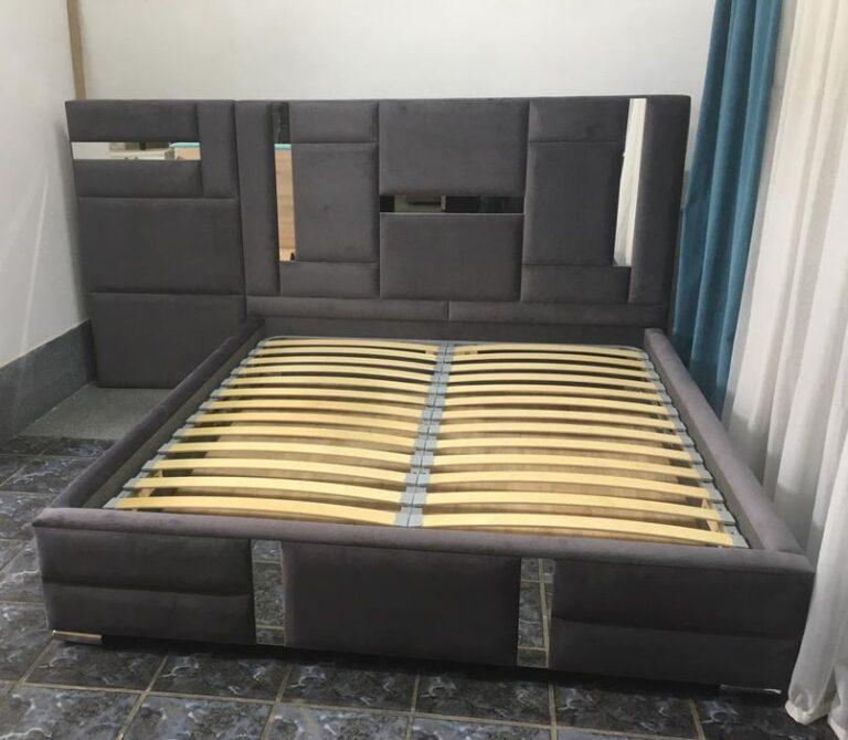 Кровать с мягким изголовьем фото 726