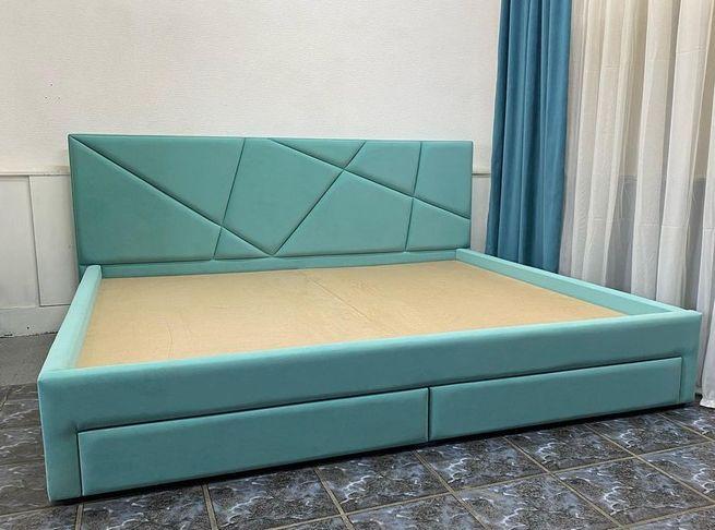 Кровать с мягким изголовьем фото 731