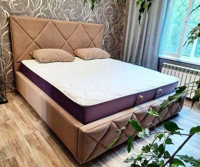 Кровать с мягким изголовьем фото 735