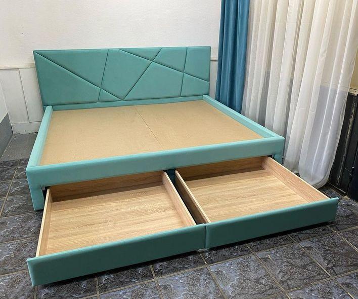 Кровать с мягким изголовьем фото 736