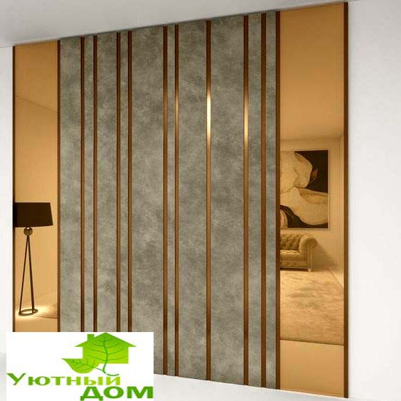 Мягкая панель в спальню фото 236