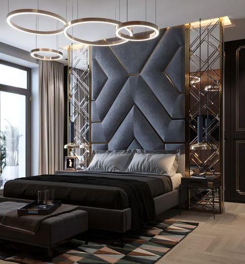 Мягкая панель в спальню фото 61