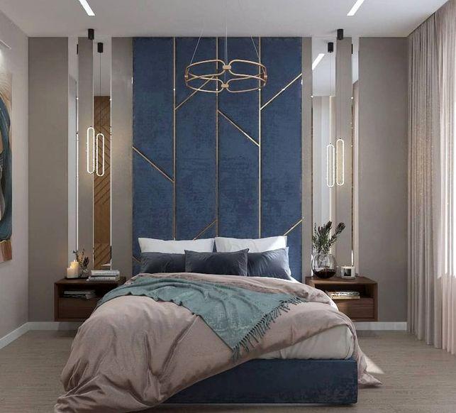 Мягкая панель в спальню фото 63