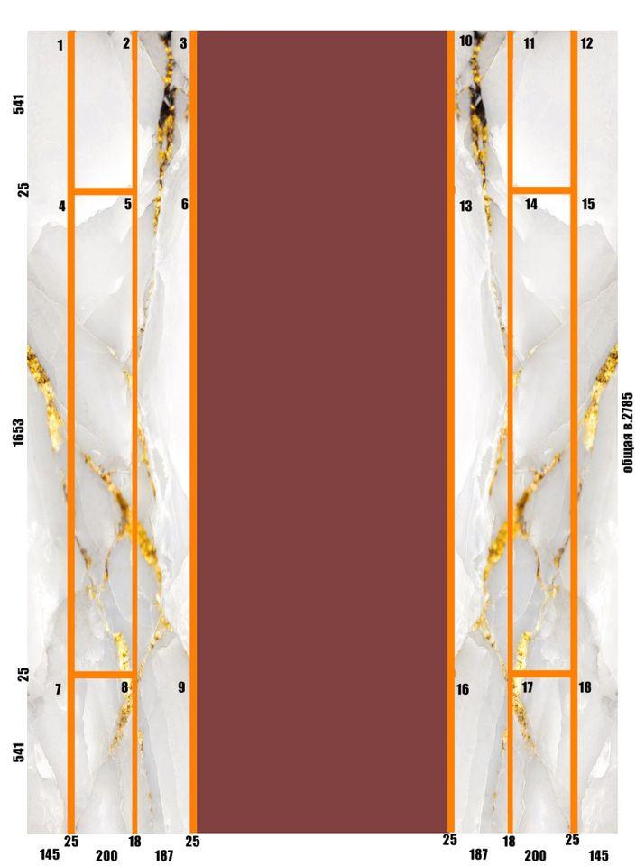 Стеновая панель под мрамор фото 721