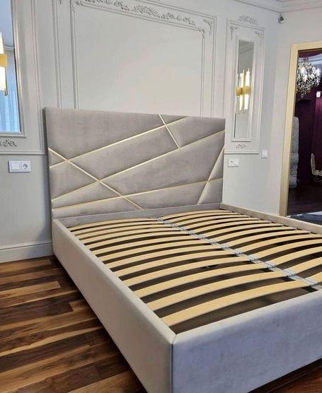 Кровать с мягким изголовьем двуспальная фото 862